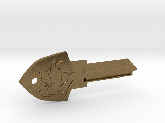 Zelda Shield House Key Blank - KW1/66 in Raw Bronze