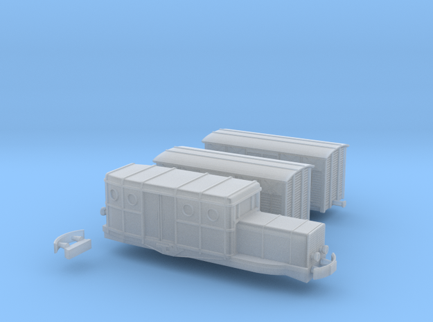 Beast+2 Wagons - Zm in Smooth Fine Detail Plastic