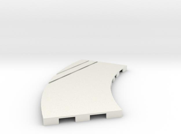P-65stp-curve-lh-junction-outer-145r-75-pl-1a in White Natural Versatile Plastic
