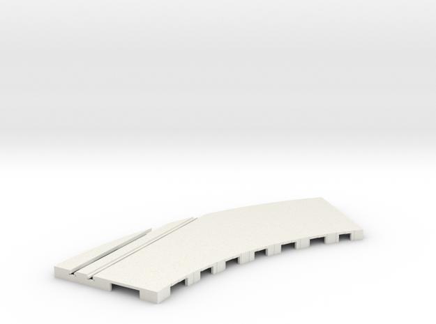 P-65stp-curve-rh-junction-outer-145r-75-pl-1a in White Natural Versatile Plastic
