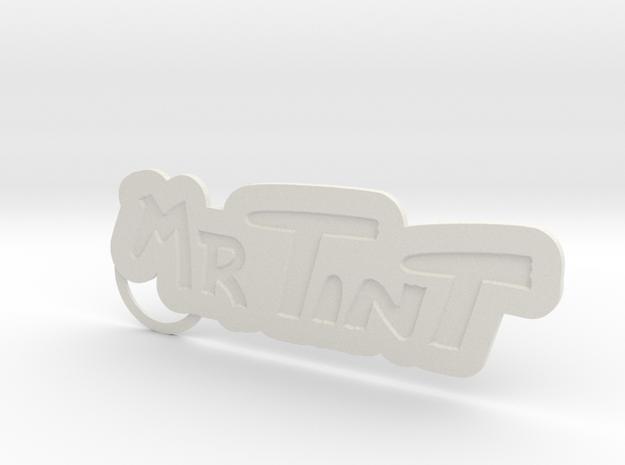 Mrtintkeychain01 in White Strong & Flexible