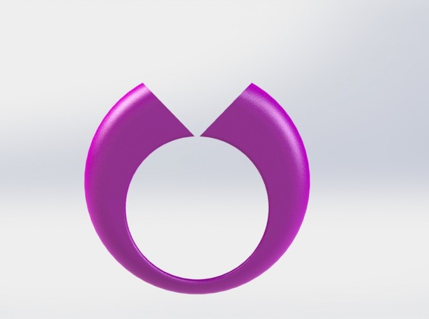 Lovers Ring 02 D19mm Size 9 in Pink Processed Versatile Plastic