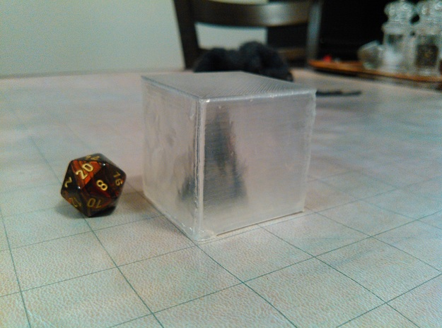 Gelatinous Cube in Smooth Fine Detail Plastic