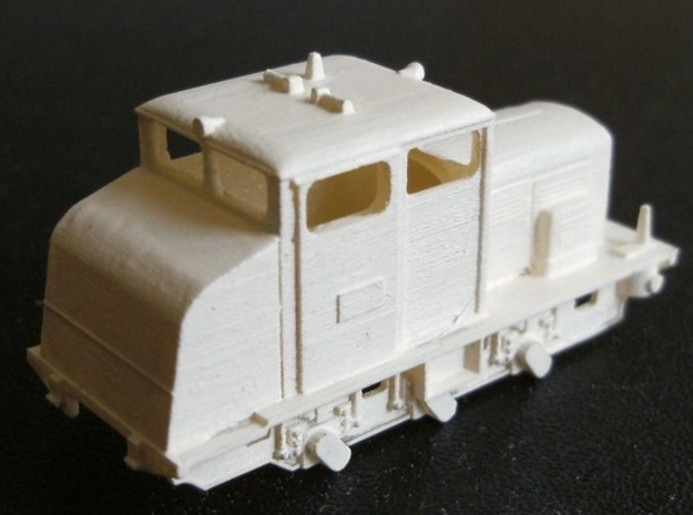 Locotracteur 62 Nm 1:160 3d printed rear of model with primer