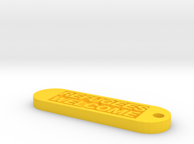 Keychain 50€ donate in Yellow Strong & Flexible Polished