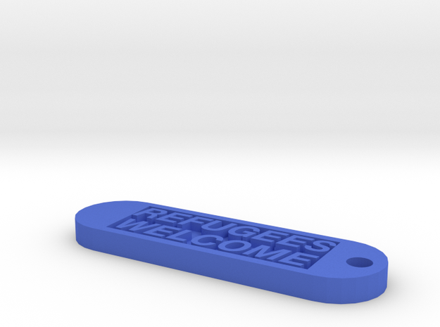 Keychain 100€ donate in Blue Processed Versatile Plastic