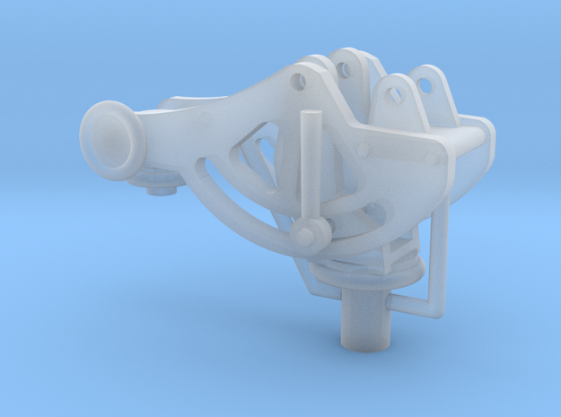 1/16 Mount for the Browning 30 cal Machine gun. in Smooth Fine Detail Plastic