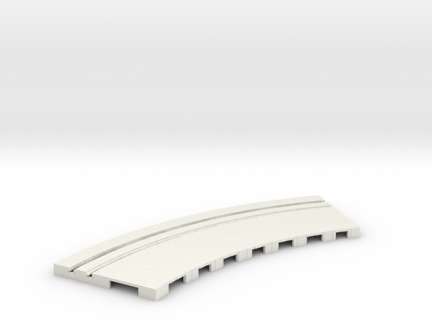 P-65stp-curve-tram-road-outer-145r-75-pl-1a in White Natural Versatile Plastic