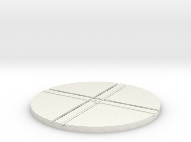 T-65-wagon-turntable-84d-75-1a in White Natural Versatile Plastic