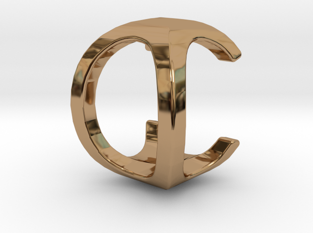Two way letter pendant - CO OC in Polished Brass