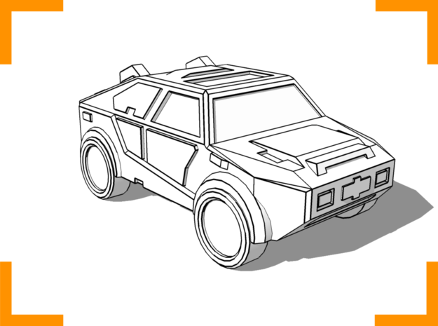 """""""Masterson"""" Utility Vehicle 6mm in White Natural Versatile Plastic"""