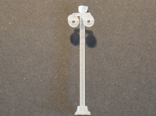 Overweg lamp dubbel N spoor in Smooth Fine Detail Plastic