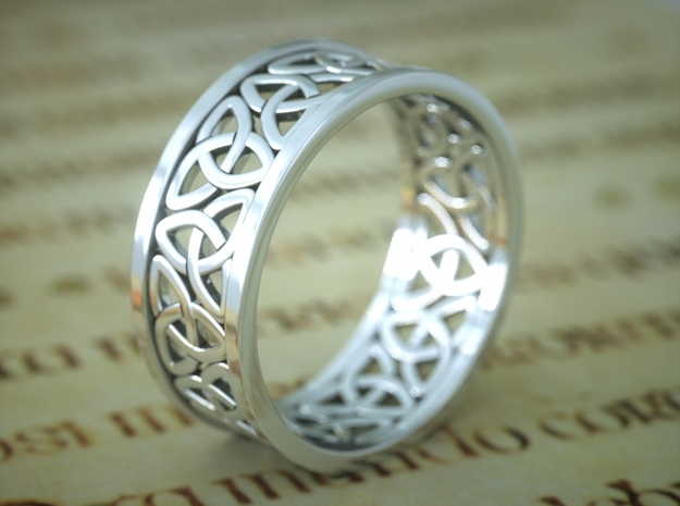 Celticring (18.5mm) in Polished Silver