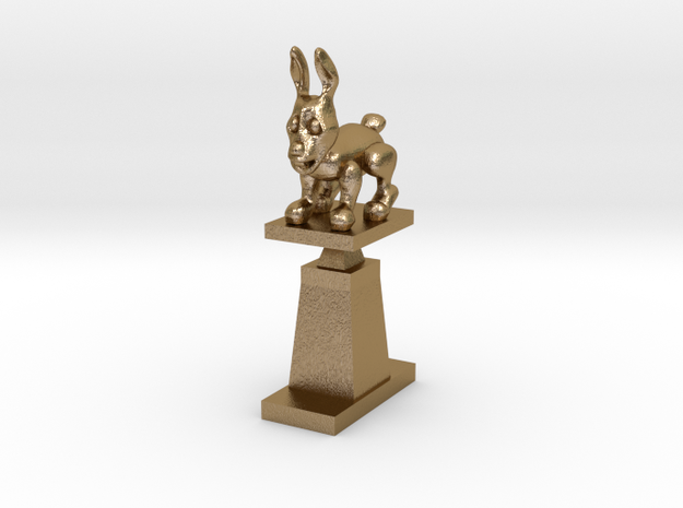 Throphy in Polished Gold Steel