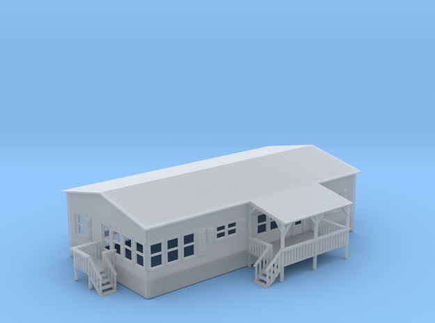 Double Wide Trailer Z Scale in Smooth Fine Detail Plastic