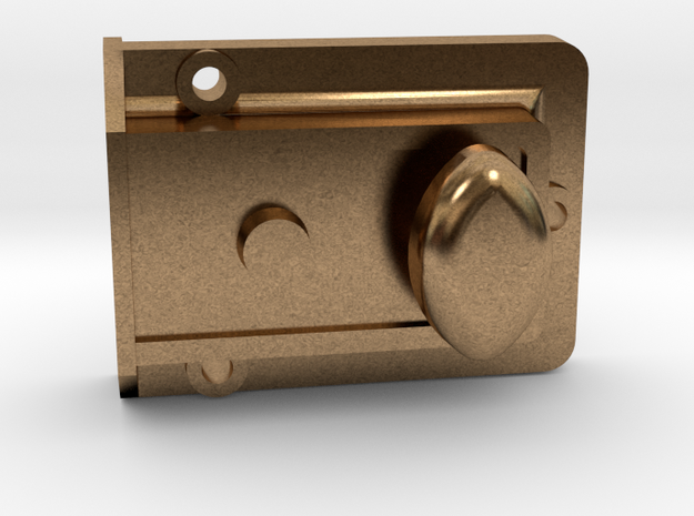 1/6 Scale TARDIS Night Latch Part 1 in Raw Brass