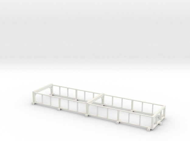 1/64 34' Silage Trailer Extensions in White Natural Versatile Plastic
