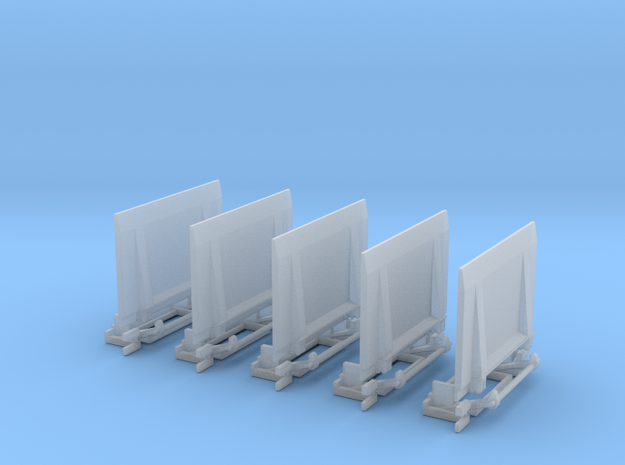 Ladebordwand GW-ATF 5x in Smooth Fine Detail Plastic