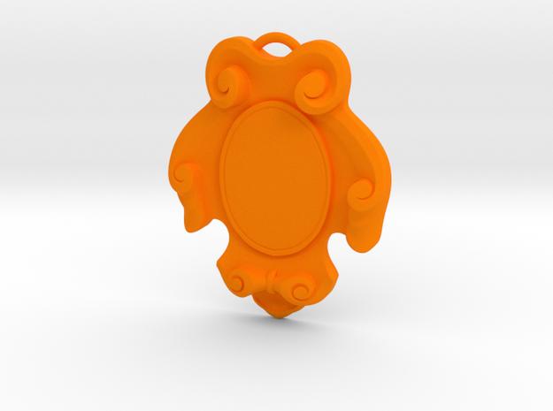 Silhouette keychain in Orange Processed Versatile Plastic