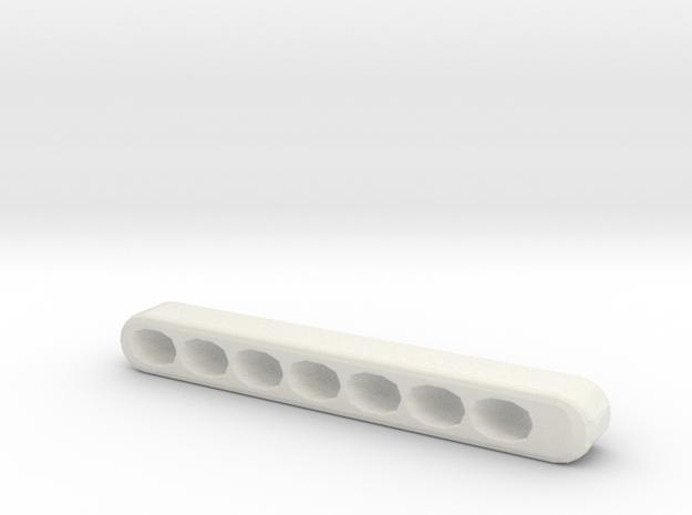 Organized Key Holder in White Natural Versatile Plastic