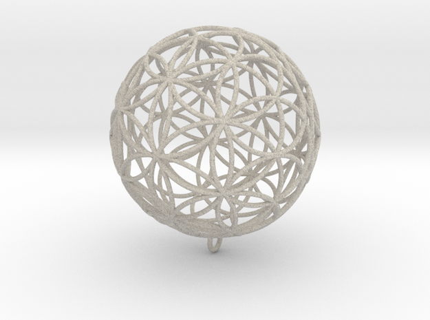 Pendant 88mm Flower Of Life in Sandstone
