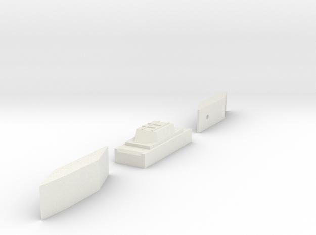 Baliza Escala G in White Natural Versatile Plastic