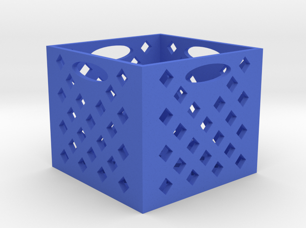 RC 1/10TH SCALE MILK CRATE in Blue Strong & Flexible Polished