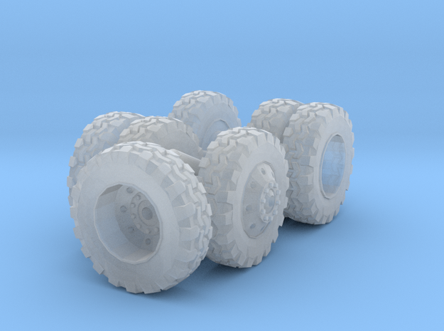 1/87 Scale Lite Duty Dually Wheel Set in Frosted Ultra Detail
