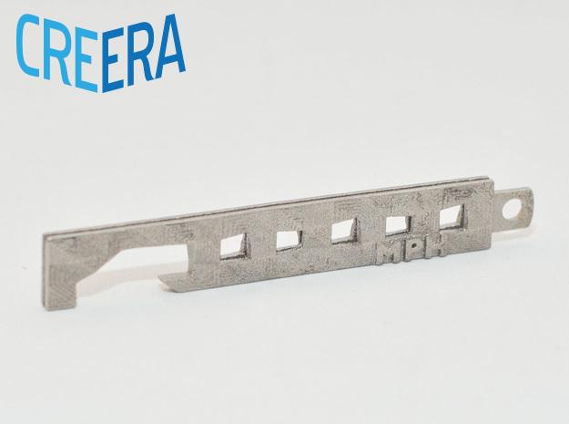 Custom Modern Bottle Opener in Polished Nickel Steel