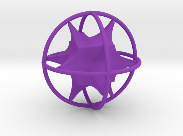 Shapeways Logo Keychain 1 - MP in Purple Processed Versatile Plastic