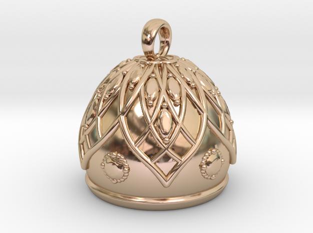 Flower Bell Pendant in 14k Rose Gold Plated