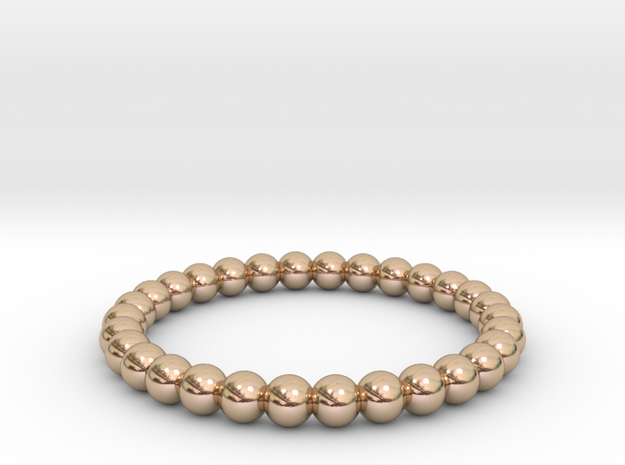 Pearl Ring in 14k Rose Gold Plated Brass