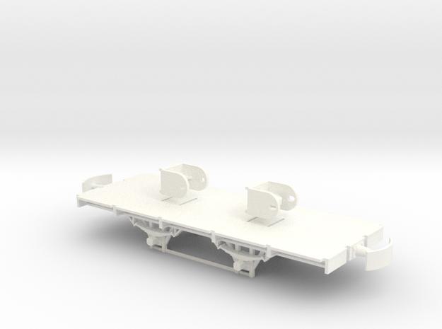 904 ZE onderstel ongeremd + ashouders 1:45  in White Strong & Flexible Polished