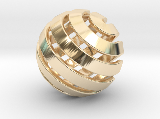 Ball-14-3 in 14K Yellow Gold