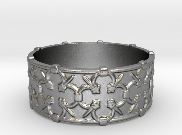 Gothic Lattice Ring in Raw Silver