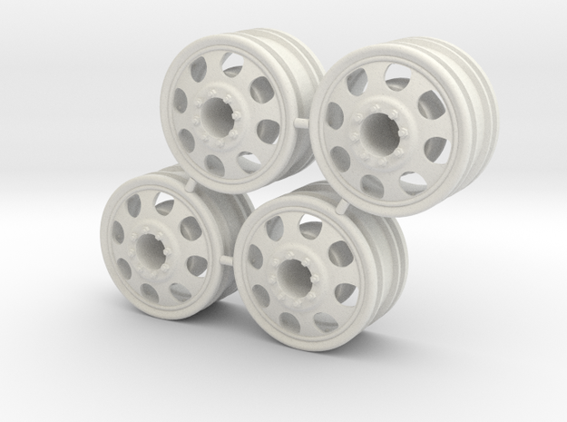 Rim Big Truck-C 4x4 Front Set - Losi McRC/Trekker in White Natural Versatile Plastic