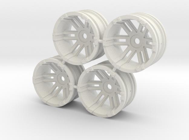 """Rim Fuel 1/8"""" offset - Losi McRC/Trekker in White Natural Versatile Plastic"""