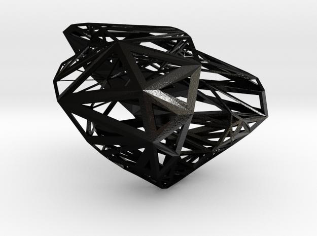 Mesort Bangle in Matte Black Steel