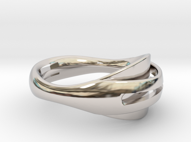 Coalesce Ring in Rhodium Plated