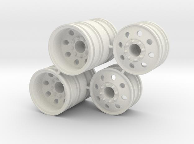 Rim Eagle 4x4 Dually Set - Losi McRC/Trekker in White Strong & Flexible
