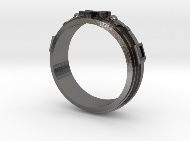 Pisces Ring  in Polished Nickel Steel