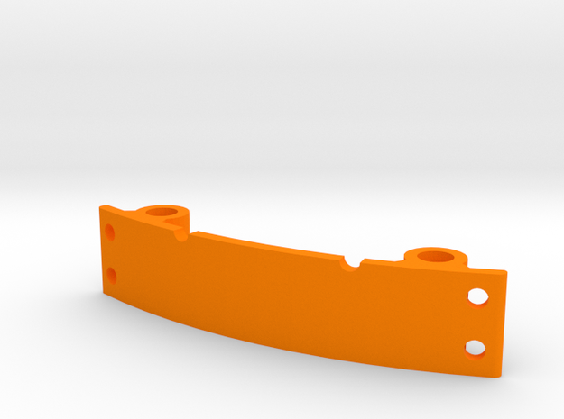 LED mount for ZMR250 with integrated wire holes in Orange Processed Versatile Plastic
