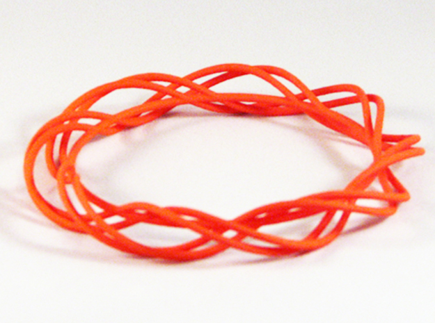 Twist Bangle C01M in Orange Processed Versatile Plastic