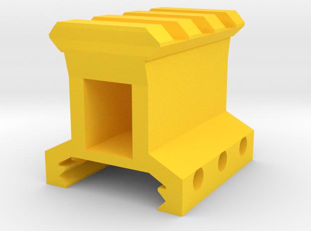 "1"" High 3 Slots Picatinny Riser in Yellow Processed Versatile Plastic"