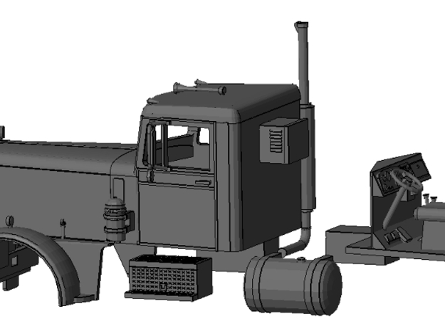 1/50th Duel Peterbilt in Smooth Fine Detail Plastic