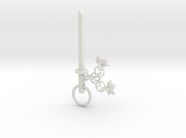 Cherry Blossom Charm Katana in White Strong & Flexible