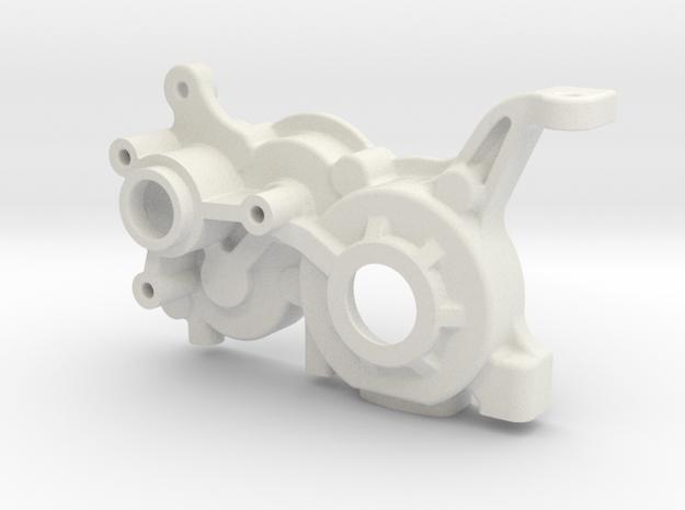 B5M LCG 4Gear Left Gearbox in White Natural Versatile Plastic