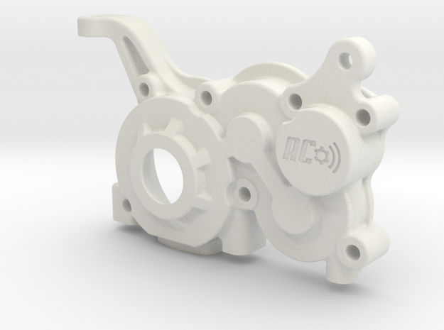 B5M LCG 4gear Right Gearbox in White Strong & Flexible