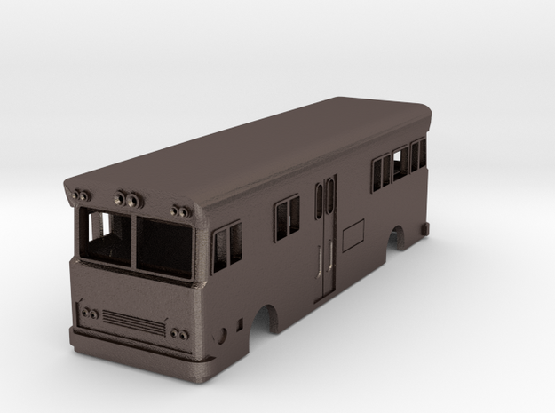 NSWR Paybus Second Series Steel(HO/1:87 Scale) in Polished Bronzed Silver Steel