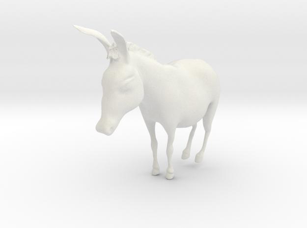 Donkey in White Natural Versatile Plastic